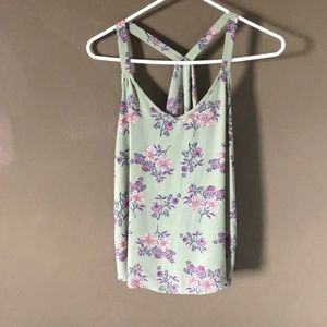 Pink Republic green floral tank top